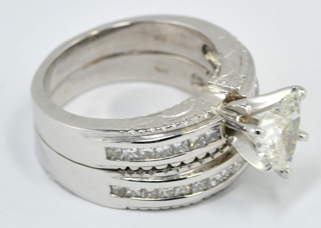 646588f8f 14K White Gold Diamond Ring with a 1.52 Carat Heart Diamond